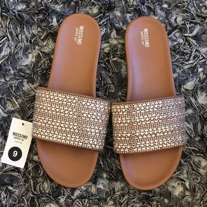 3d5c6cfdf042 Mossimo Supply Co. Shoes - Target mission supply co. Daylan slide sandals  NWT